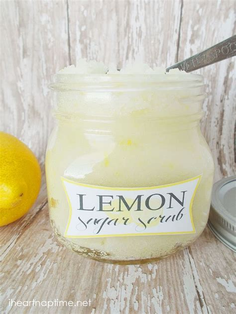 printable lemon recipes lemon sugar scrub recipe homemade sugar scrubs and