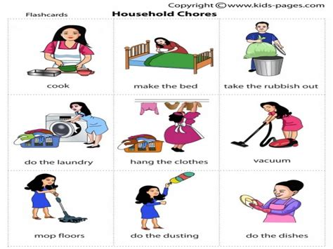 House Chores by Household Chores Clipart Clipartsgram