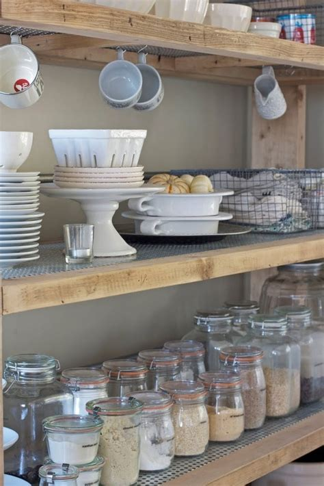 Rustic Pantry by Rustic Shelves In Pantry For The Home