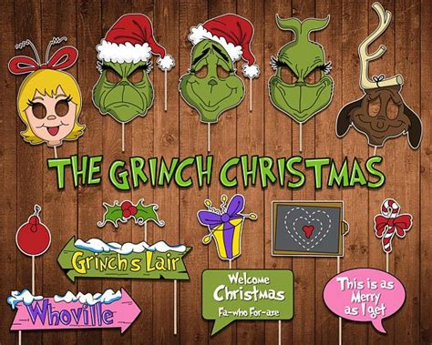 grinch christmas party props 907 best whoville images on decoration crafts ideas