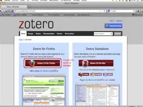 tutorial descargar zotero zotero demonstation doovi