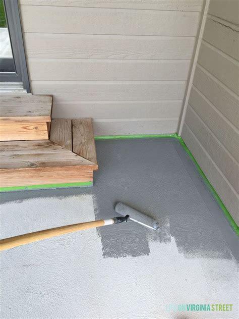 Painted Concrete Patio Makeover Patio Makeover Paint Cement Patio Paint