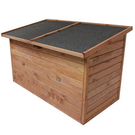 wooden outdoor storage box seat keter keter brightwood 120 gallon outdoor garden patio