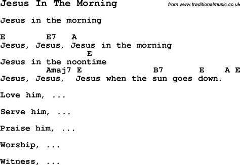 song for jesus summer c song jesus in the morning with lyrics and