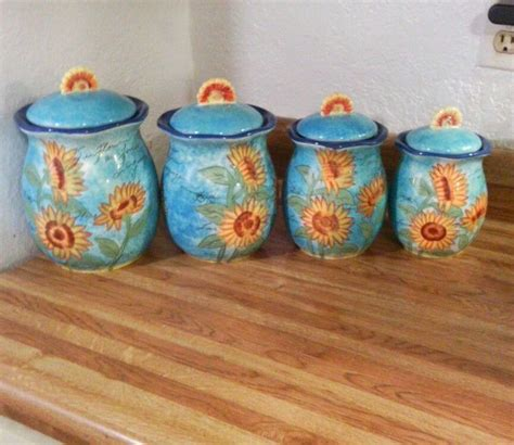 sunflower canisters for kitchen sunflower kitchen canister sets