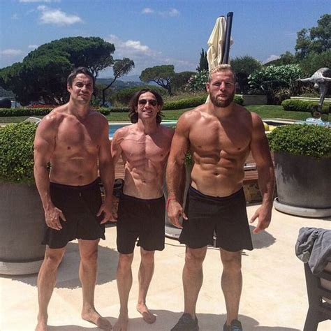 james haskell bench press training in the sun with biddersiam and the main man dj