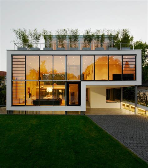 Energy Optimized House With Roof Terrace Louver Windows Exterior Window Shutters And