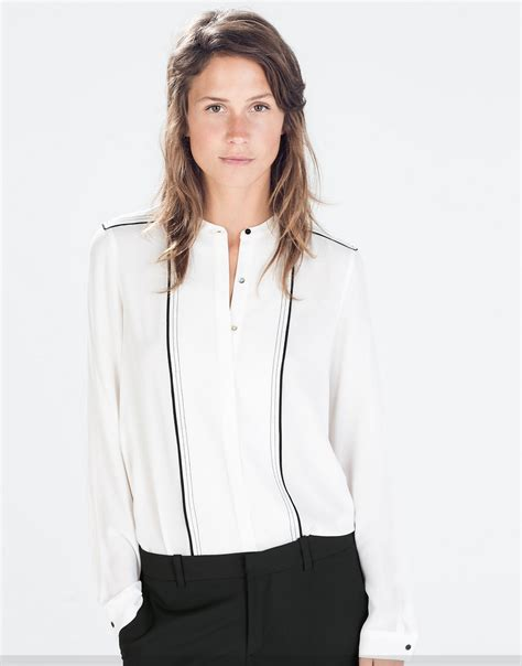 Zara Top Ris my superficial endeavors zara blouse sweater