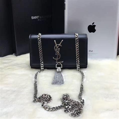 Ysl Black Pouch 17 X 12 Cm ysl small tassel chain leather bag 17cm black silver