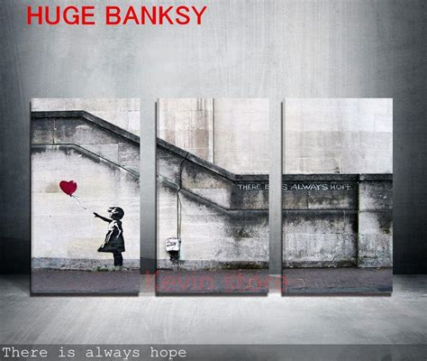 banksy home decor discount canvas only large banksy there is always hope