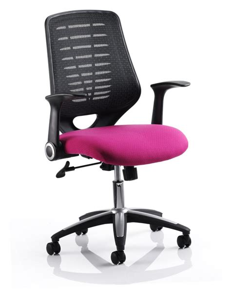 relay mesh office chair  pink seat