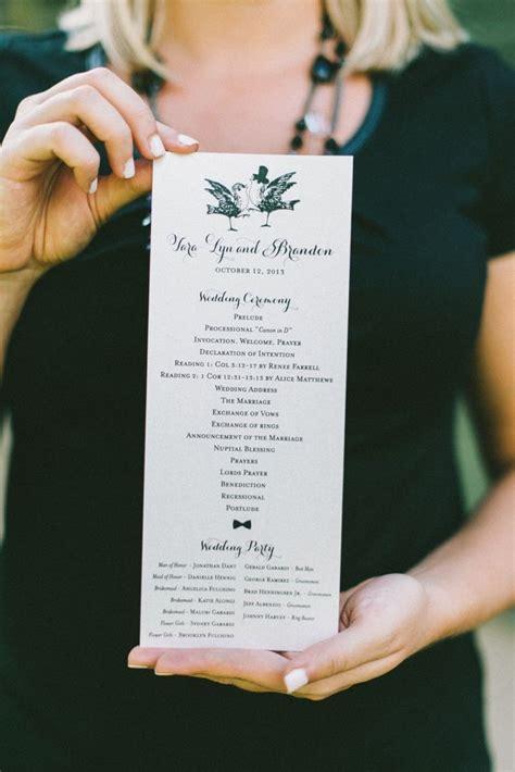 Wedding Ceremony Tips by Best 25 Ceremony Programs Ideas On Wedding