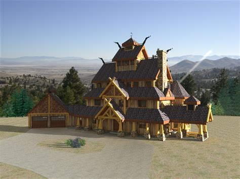 modern viking longhouse design rcm cad 10