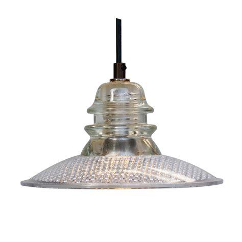 Insulator Pendant Lights Insulator Light Pendant 8 Quot Trafficlight Lens Clear Led 120v 6w 500 Lumen Railroadware