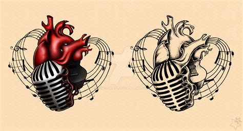 heart and music tattoo designs adam gontier live 2013 tattoos by