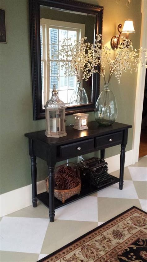 Black Entryway Table Best 25 Black Entry Table Ideas On Black Entryway Table Foyer Table Decor And