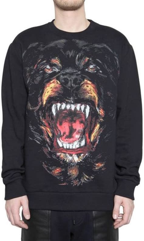 rottweiler sweatshirt givenchy rottweiler fleece sweatshirt in black for lyst