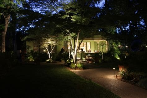 Residential Front Entry Path Lighting With Tree Features Outdoor Lighting Residential