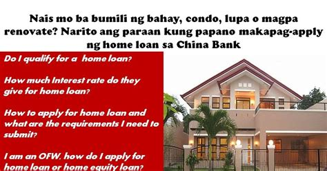 how to apply for home loan in china bank