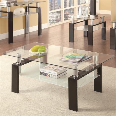 coaster furniture coffee table coaster occasional 702280 702288 tempered glass
