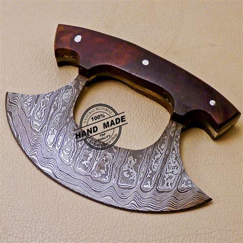 handmade kitchen knives damascus ulu kitchen knife custom handmade kitchen