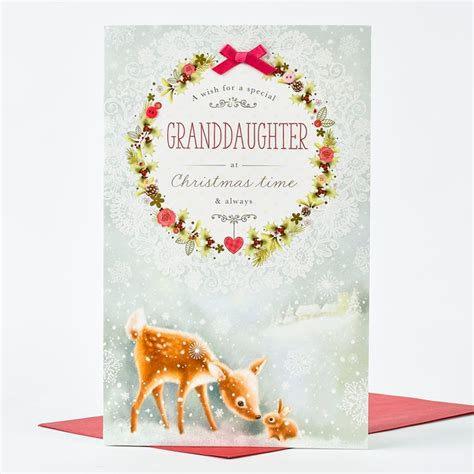 printable christmas cards for granddaughter christmas card wish for a granddaughter only 163 1 49