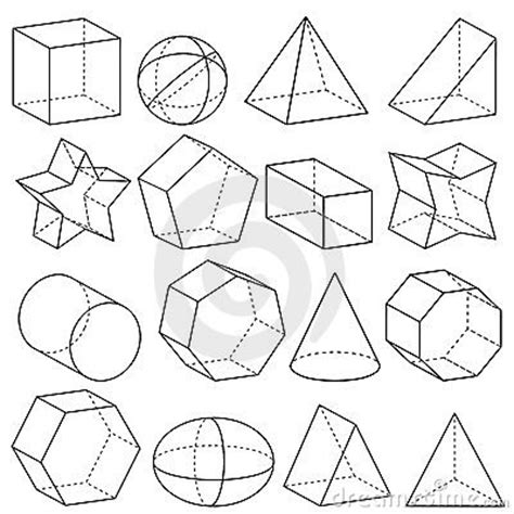 figuras geometricas espaciais figuras geometricas 3d buscar con google dibujo