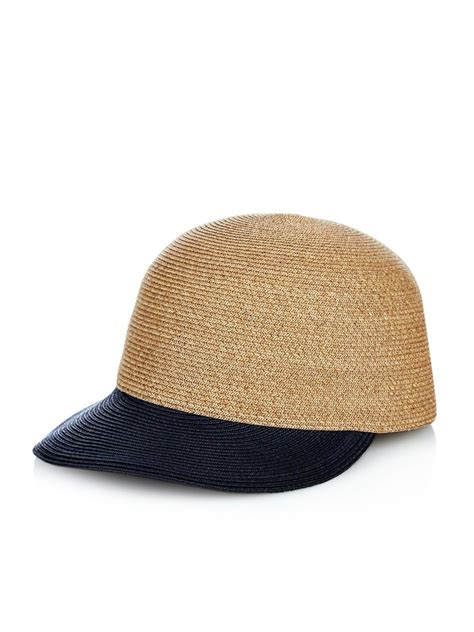 eugenia joey straw baseball cap in blue lyst