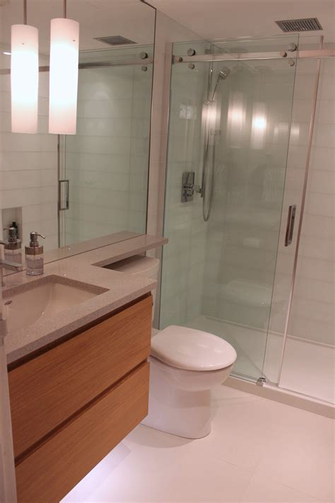 condo bathroom renovation modern beautiful and compact