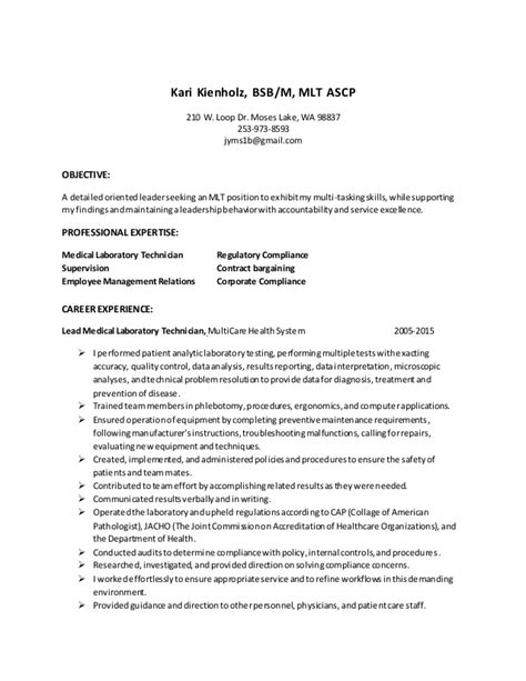 resume mlt with bullets