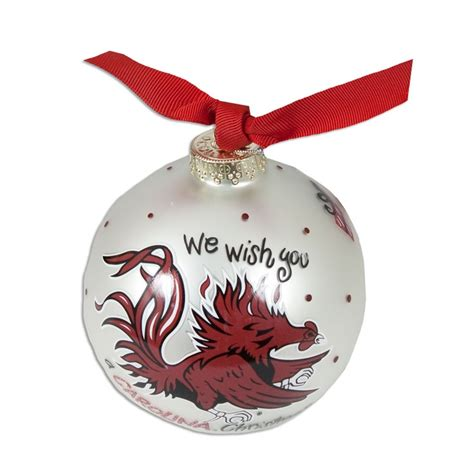 south carolina gamecock quot we wish quot christmas ornament