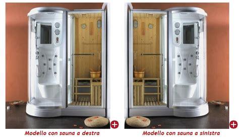 doccia sauna finlandese box doccia idromassaggio 168x95cm con sauna e cromoterapia vi
