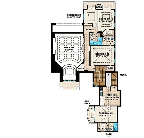 in law apartment plans mediterranean house plan with in law apartment 66335we