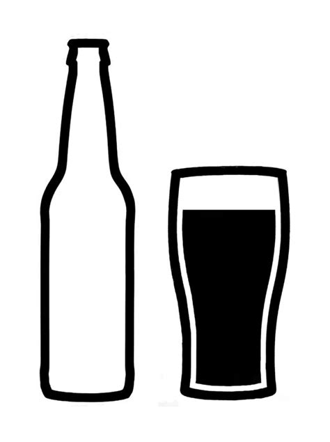 beer glass svg craft beer bottle and glass vinyl decal by
