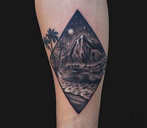 geometric tattoo maryland geometric landscape tattoo by marc durrant tattoonow