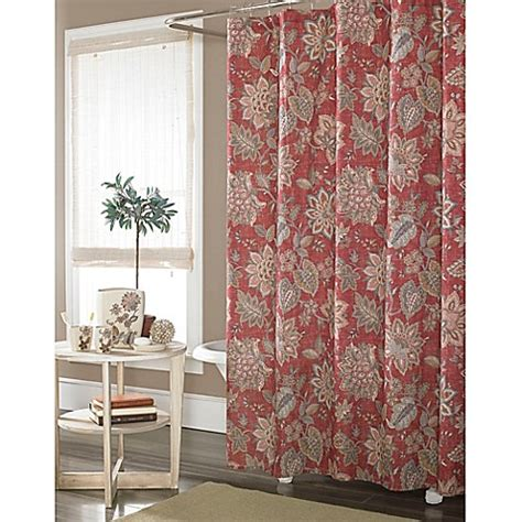 j queen shower curtain buy j queen new york springfield shower curtain in rust