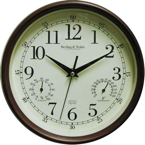 mainstays indoor outdoor large clock wall antique bronze