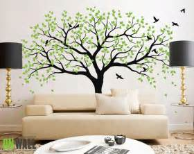 Wall Decor Tree Stickers large tree wall decals trees decal nursery tree wall decals