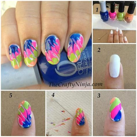 nail art needle pen tutorial u 241 as decoradas paso a paso taringa