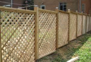 Trellis Fencing On Top Of Wall Lattice Fence Designs