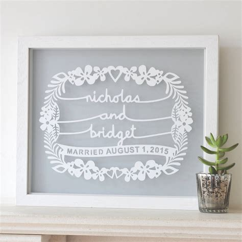 Wedding Gift Wall personalised wedding gift papercut wall by ant design