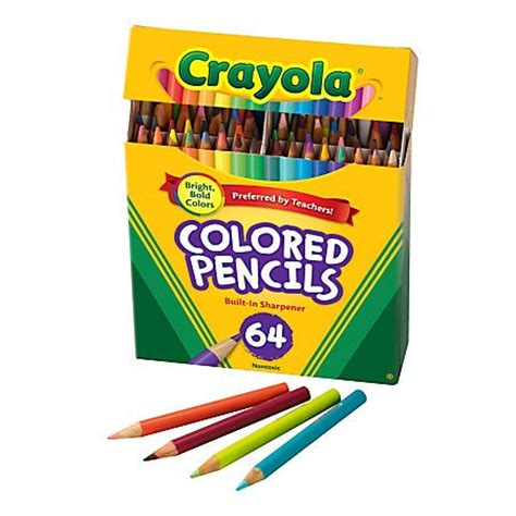 crayola 64 colored pencils crayola colored pencils 64 count coloring import