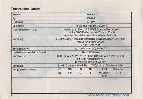 Sachs Motor Technische Daten by Hercules Prima Gx Betriebsanleitung Technische Daten Vom