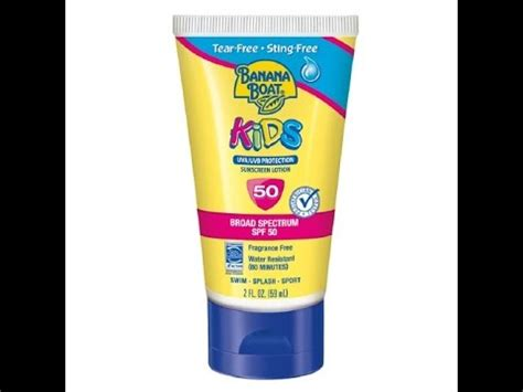 banana boat sunscreen not working banana boat kids sunscreen lotion spf 50 youtube