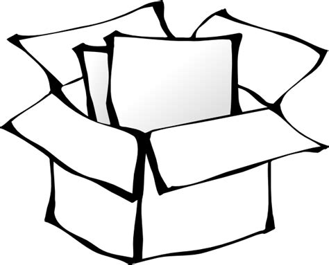 Box Outline Clip by Box Outline Clip At Clker Vector Clip Royalty Free Domain