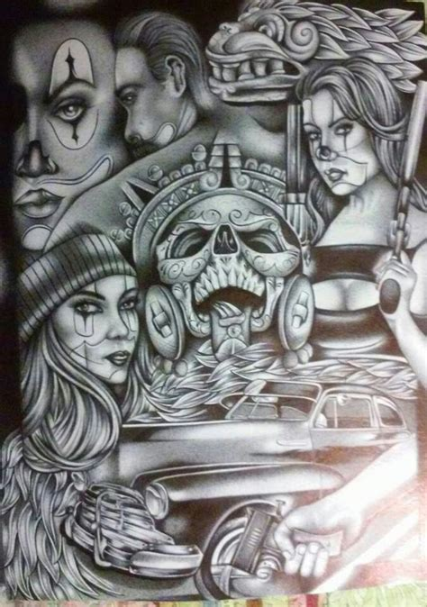 lowrider arte tattoos designs chicano arte tk chicano chicano and