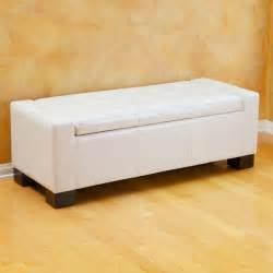 White Leather Ottoman Bench Master Bshd884 Jpg