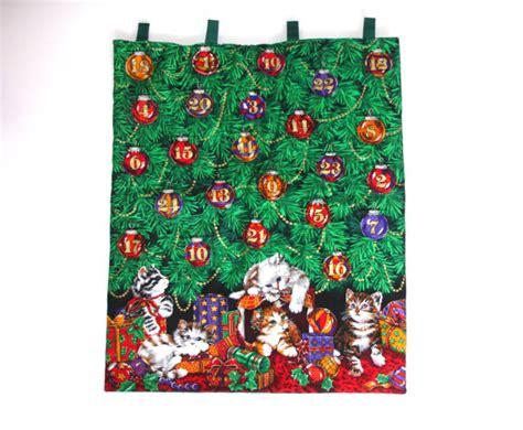 Handmade Fabric Advent Calendar - fabric advent calendar cats by fillygumbo