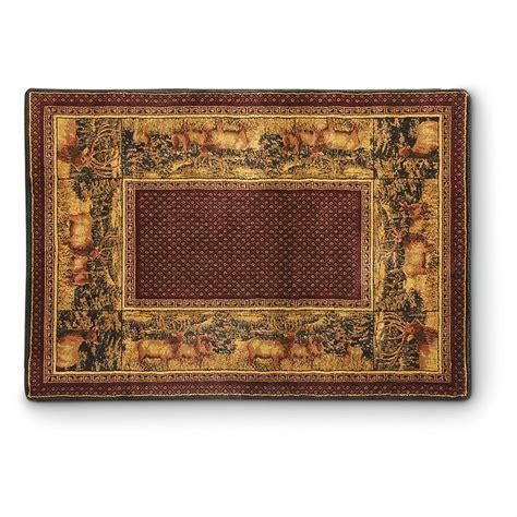 elk rugs united weavers hautman elk rug 610320 rugs at sportsman s guide