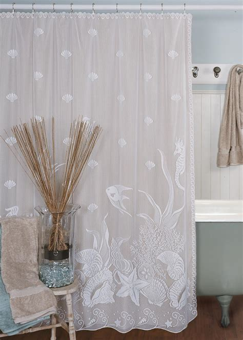 heritage lace shower curtains seascape shower curtain heritage lace